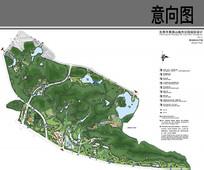 黄旗山公园景观规划总平面