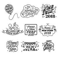 徽章新年文字设计模板