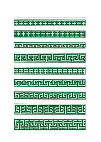 绿色的传统花边图案