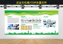 绿色简洁企业文化墙CDR模板
