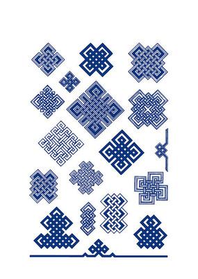 传统回纹花纹图案 AI