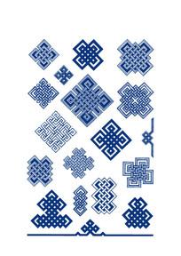 蒙古族服饰的花纹