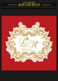 欧式巴洛克高端婚礼logo牌