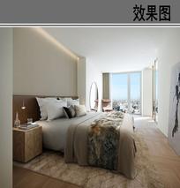 欧式风格观景卧室效果图