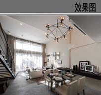欧式现代风格客厅效果图 JPG