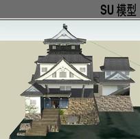 日本古典居住建筑 skp