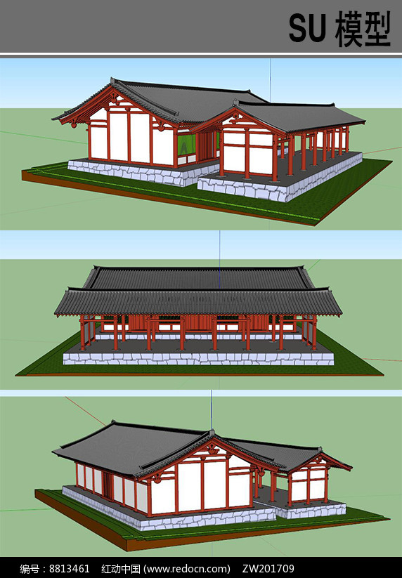 日本古建模型图片