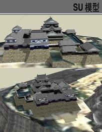 日本古建宅院 skp