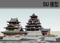 日本古建筑SU skp