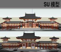 日本古建筑模型
