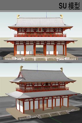 日本古建筑牌坊