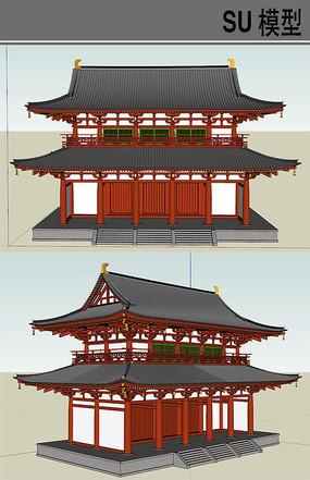 日本古建筑寺庙