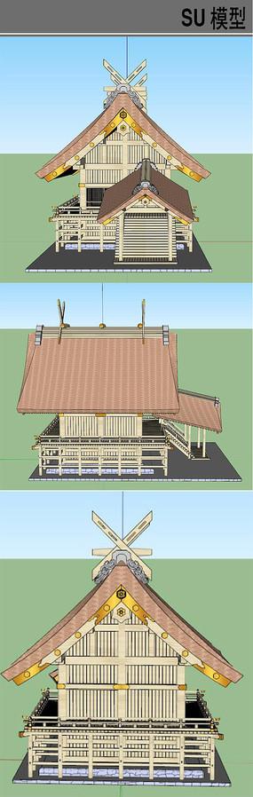日本海边居住木屋