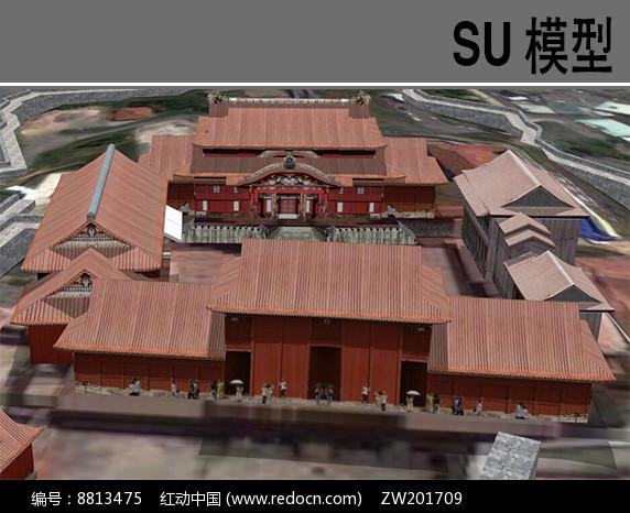 日本寺庙模型图片