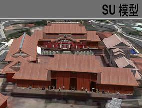 日本寺庙模型