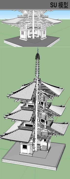 日本塔房结构模型
