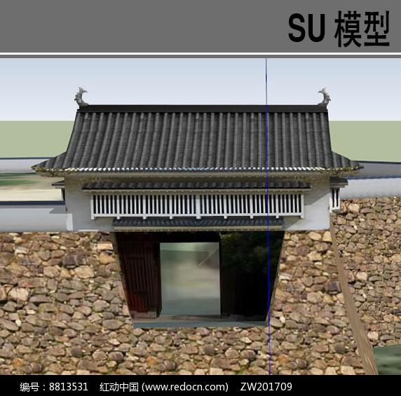 日式古典建筑大门图片