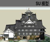 日式古建 skp