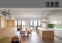 日式开放厨房效果图 JPG