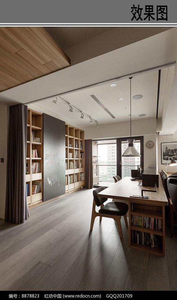 日系清新工作空间效果图图片