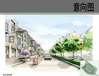 商业街区透视图
