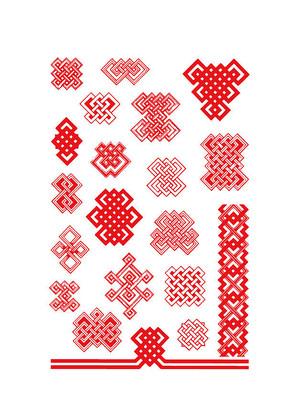矢量的民族传统花纹