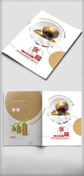 时尚大气金融画册封面