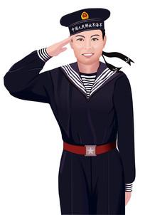 水兵敬礼插图