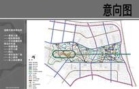 天津北洋园景观道路交通系统图