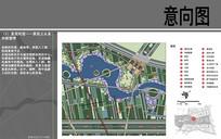 天津北洋园景观河道图