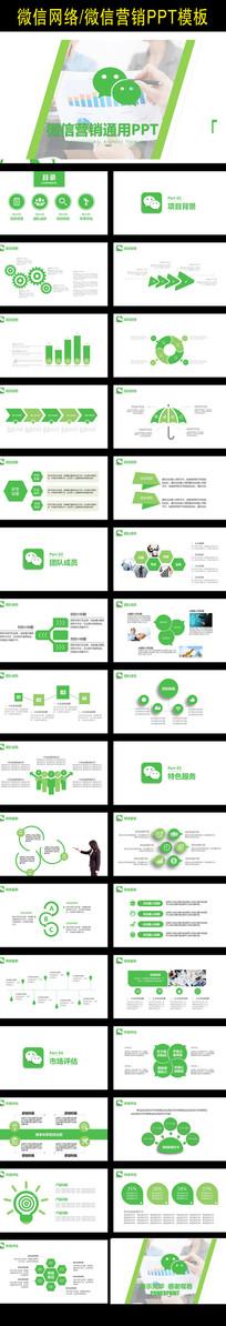 微信营销工作PPT模板