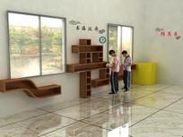 校园书柜设计