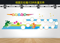 学校社区文化墙照片墙