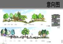 易和岭秀滨城景观某段剖面图