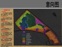真山公园景观规划功能分区图