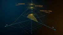 高科技多维弧线数据展示视频
