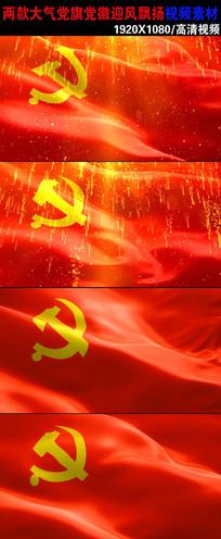 两款党旗动态视频素材下载