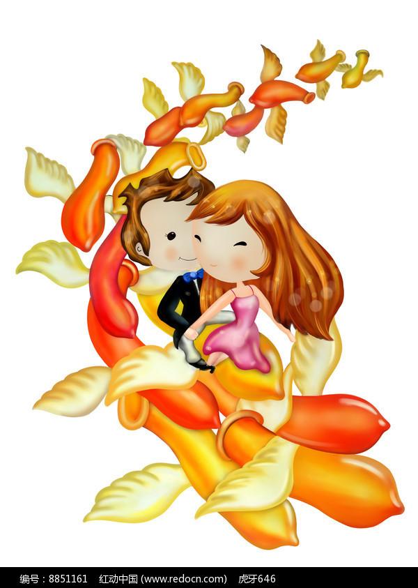情人节的浪漫插图图片