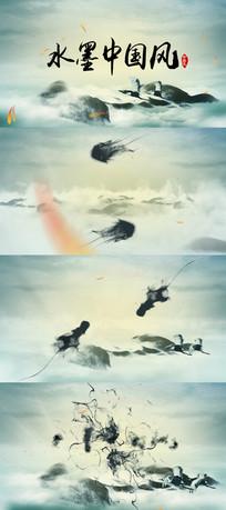 水墨中国风山水国学原创视频模板
