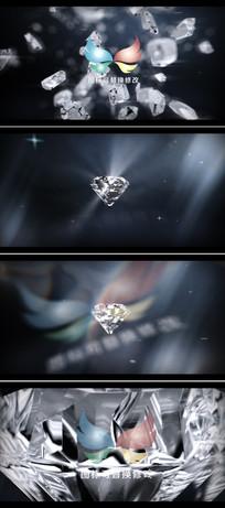 钻石爆炸企业标志展示ae模板
