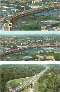 高速公路发达城市交通路网视频