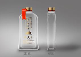 简约透明100ml白酒瓶包装设计 PSD