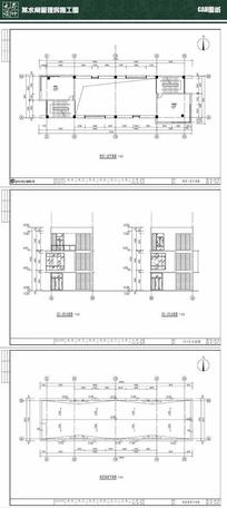 某水闸管理房施工图CAD dwg