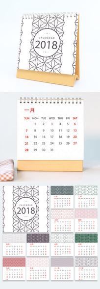 中国风花纹台历