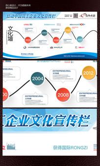 多彩大气企业文化企业宣传展板