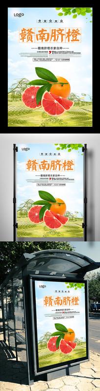 赣南脐橙水果上市海报