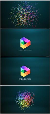粒子汇聚Logo动画视频