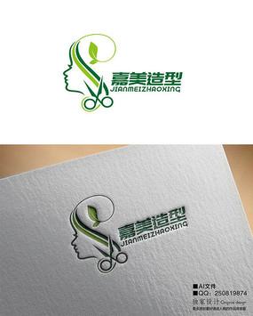 美发造型logo AI