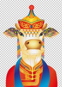 插画的靓牛