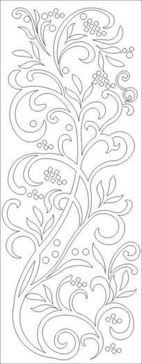 抽象树果雕刻图案